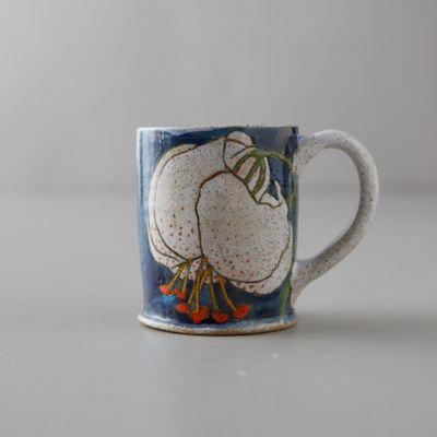 Blue Lily Ceramic Mug
