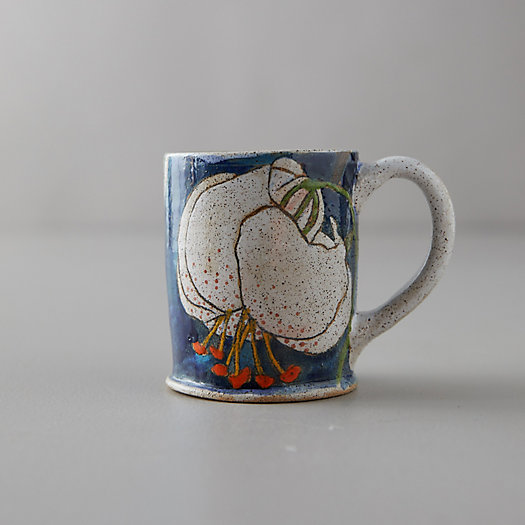 View larger image of Blue Lily Ceramic Mug