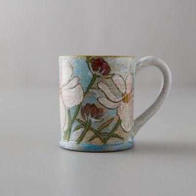 Pink Flowers Ceramic Mug
