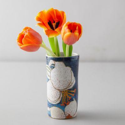 Blue Lily Ceramic Vase