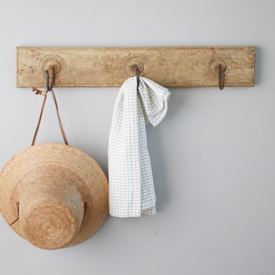 Rustic Wood Wall Rack