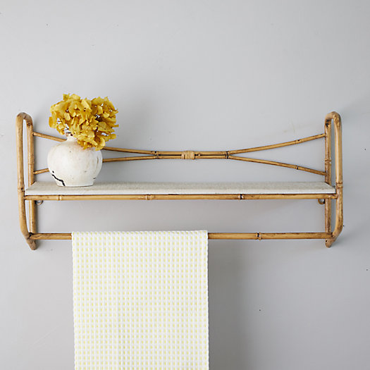 View larger image of Bamboo + Iron Wall Shelf