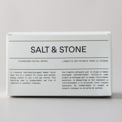 Salt & Stone Cleansing Facial Wipes, Set of 12