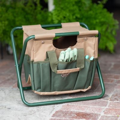 Canvas Carry-All Garden Stool