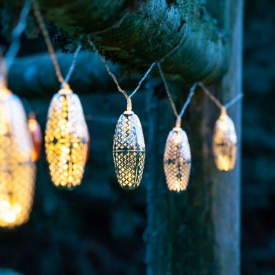Solar Droplet Lantern Light String
