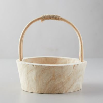 Natural Wood Basket