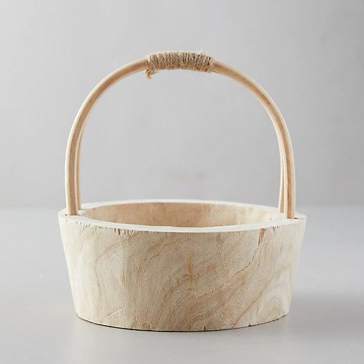 View larger image of Natural Wood Basket