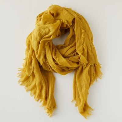 Woven Frayed Edge Scarf