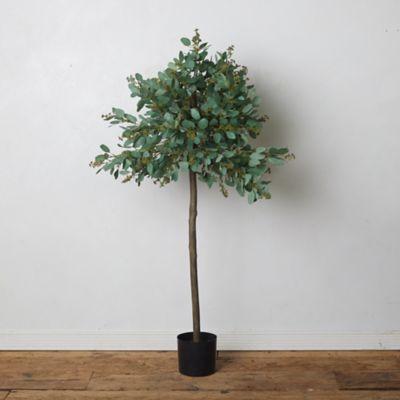 Faux Eucalyptus Topiary Plant
