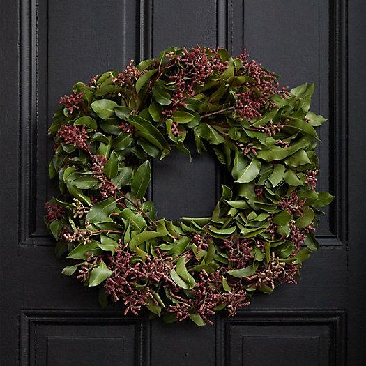 View larger image of Fresh Sumac Leaf Wreath