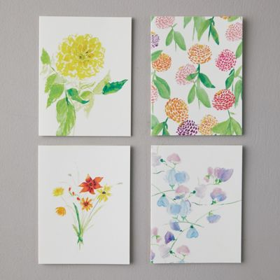 Spring Blooms Greeting Cards, Set of 8