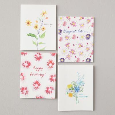 Spring Greetings Cards, Set of 8