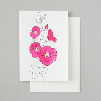 Hand-Painted Floral Greeting Card