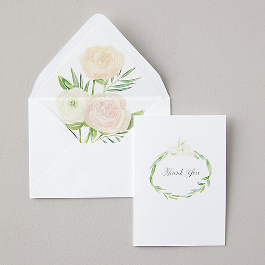 View larger image of Rose Thank You Cards, Set of 8