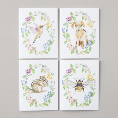 Woodland Creature Greeting Cards, Set of 8