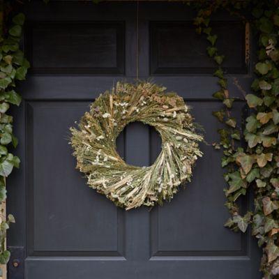 Creams + Greens Wreath