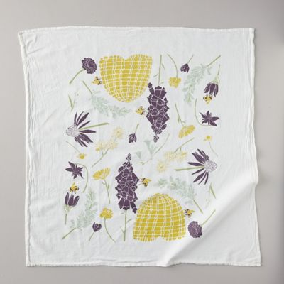 Honeybee Garden Tea Towel