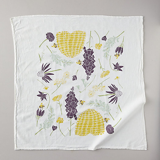 View larger image of Honeybee Garden Tea Towel