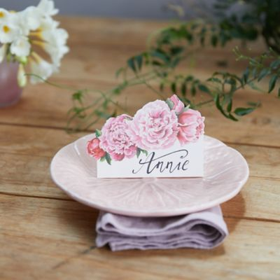 Peony Place Cards, Set of 12