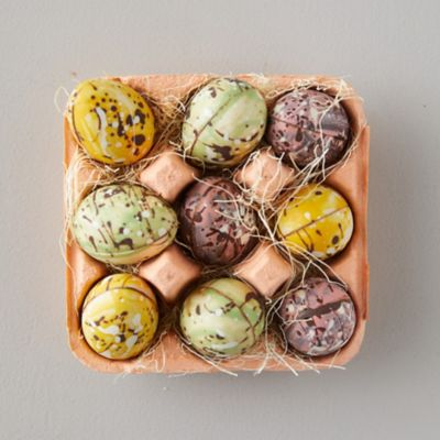 Marbled Chocolate Eggs in Carton