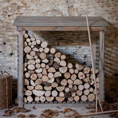 Slatted Spruce Log Holder