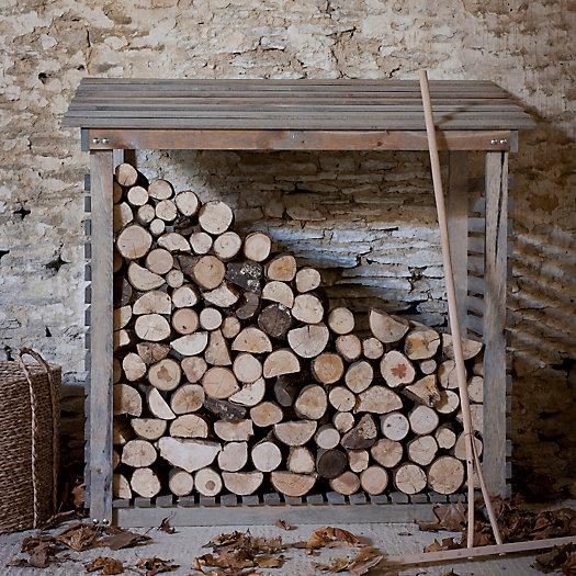 View larger image of Slatted Spruce Log Holder