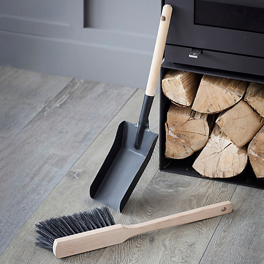 View larger image of Fireside Dust Pan + Brush Set