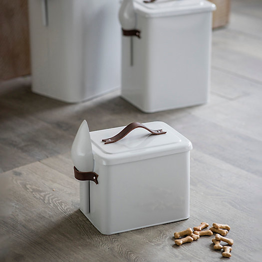View larger image of Steel + Leather Pet Food Storage Container