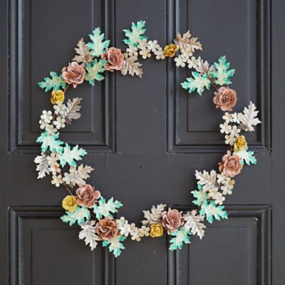 Iron Colorful Floral Wreath