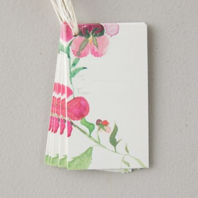 Pink Blooms Gift Tags, Set of 10