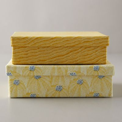 Paper Gift Box, Yellow