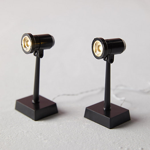 View larger image of Mini LED Tall Spotlights, Set of 2