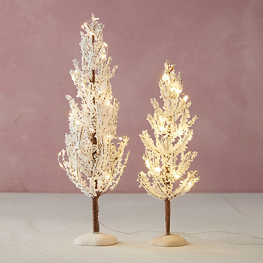 View larger image of Miniature Faux Pre-Lit Snowy Tree