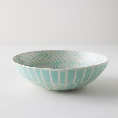 Line + Arrow Ceramic Serving Bowl