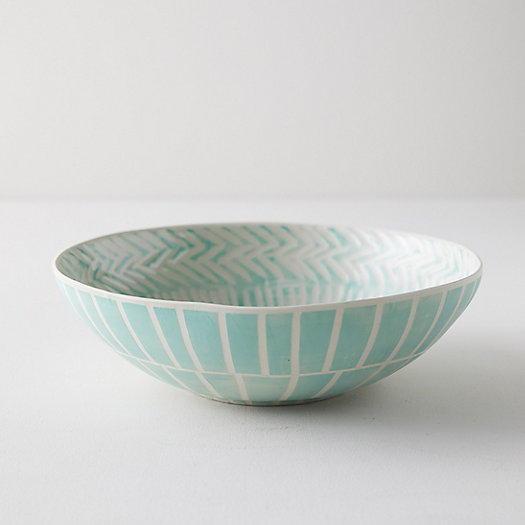 View larger image of Line + Arrow Ceramic Serving Bowl