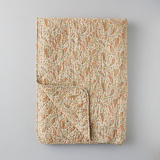 View larger image of Nordic Cotton Throw, Yellow Paisley