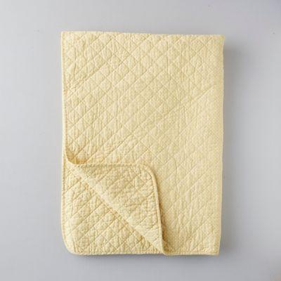 Nordic Cotton Quilt, Mustard Dot