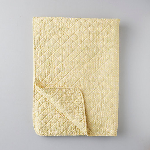 View larger image of Nordic Cotton Quilt, Mustard Dot