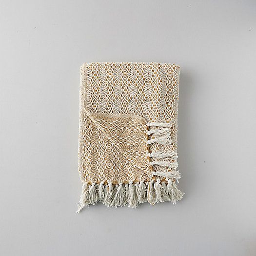 View larger image of Woven Cotton Throw, Diamond Stripe