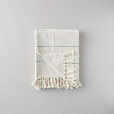 Woven Cotton Throw, Narrow Stripe