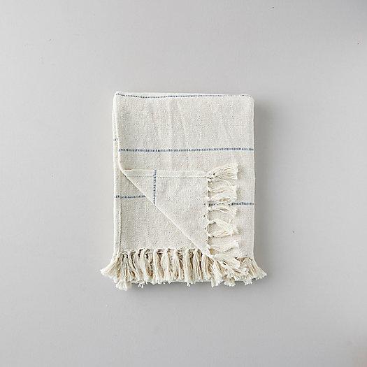 View larger image of Woven Cotton Throw, Narrow Stripe
