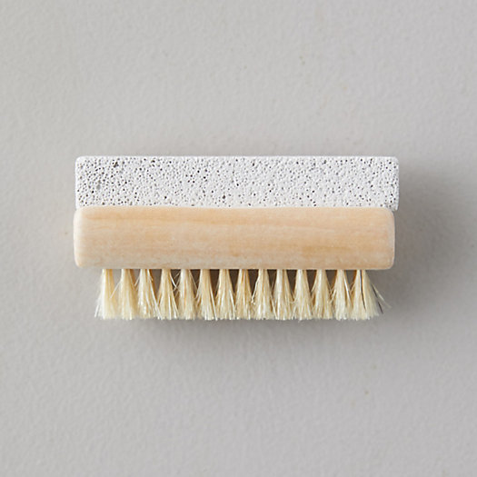 View larger image of Pumice Stone + Boar Bristle Exfoliating Brush