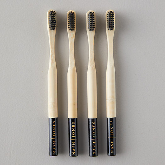 View larger image of Activated Charcoal + Bamboo Toothbrushes, Set of 4
