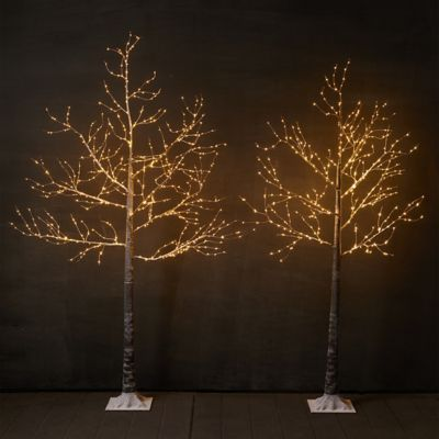 Faux Pre-Lit LED Wrapped Branch Tree