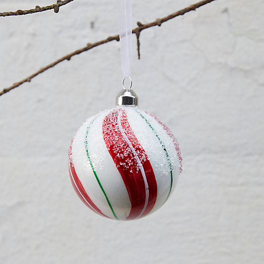 View larger image of Candycane Stripe Glass Globe Ornament