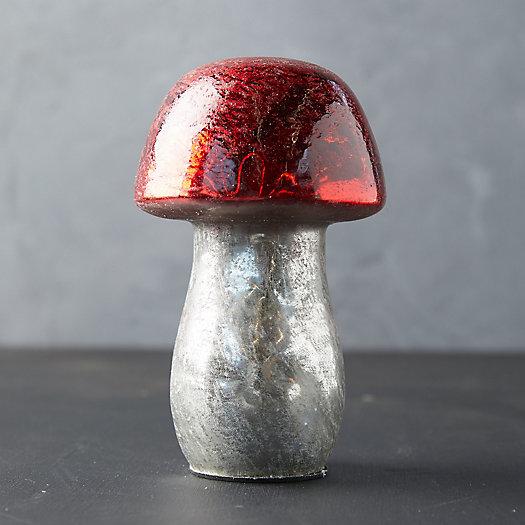 View larger image of Antiqued Glass Mushroom, Large