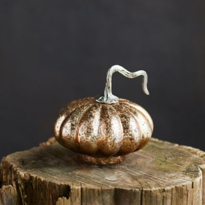 Antiqued Glass Pumpkin