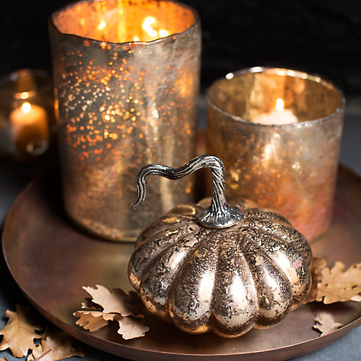 View larger image of Antiqued Glass Pumpkin
