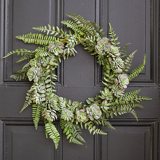 View larger image of Faux Succulent Wreath