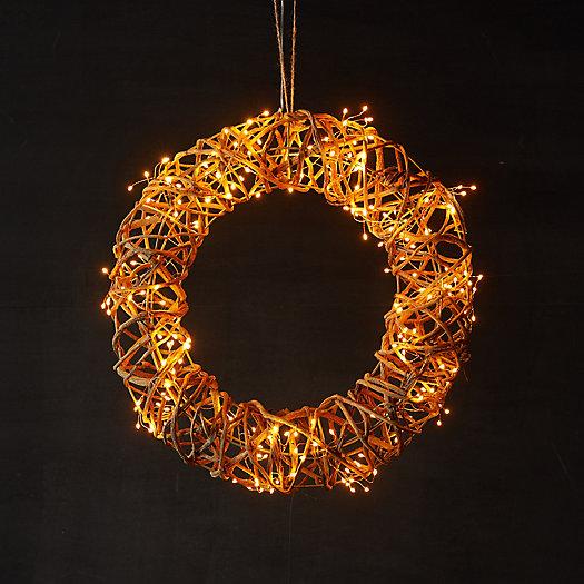 View larger image of Stargazer Nature Effects Illuminated Vine Wreath